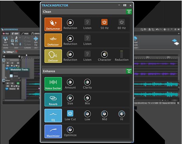 WaveLab Cast Trackinspector: Mit ein paar Klicks zum Profi-Sound. Bildquelle: Steinberg Media Technologies