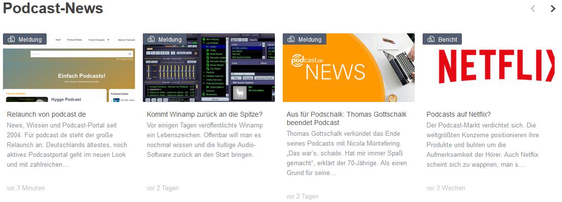 Podcast.de Relaunch News-Bereich