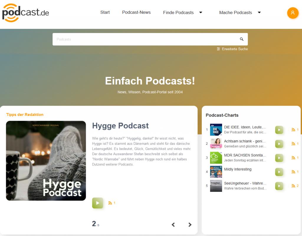 Relaunch von podcast.de