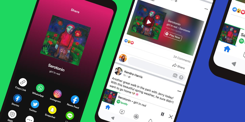 Spotify's Miniplayer kommt für Facebook-App